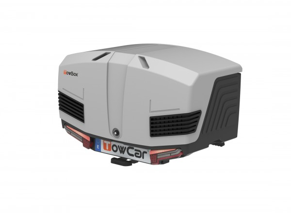 Towbox V3 Gepäckbox für Anhängerkupplung | Classic Grau | Transportbox | Gepäckträger