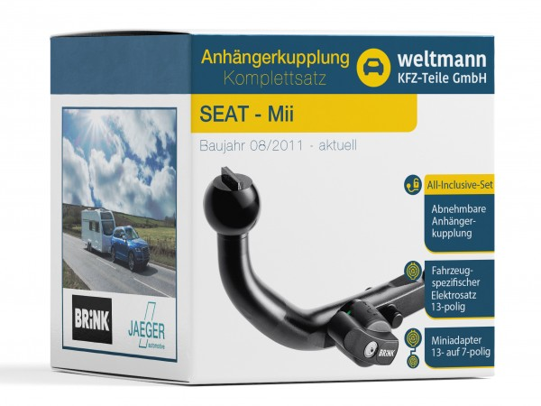 SEAT MII Abnehmbare Anhängerkupplung + 13-poliger Elektrosatz
