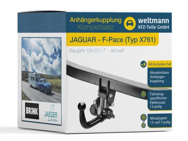 JAGUAR F-PACE Typ X761 Abnehmbare Anhängerkupplung + 13-poliger Elektrosatz