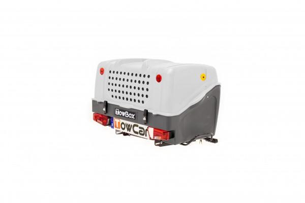 Towbox V1 Gepäckbox für Anhängerkupplung | Grau | Hunde Transportbox | Gepäckträger