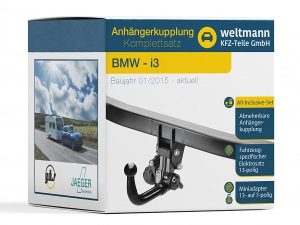 BMW i3 Abnehmbare Anhängerkupplung + 13-poliger Elektrosatz - Nicht für Anhängerbetrieb