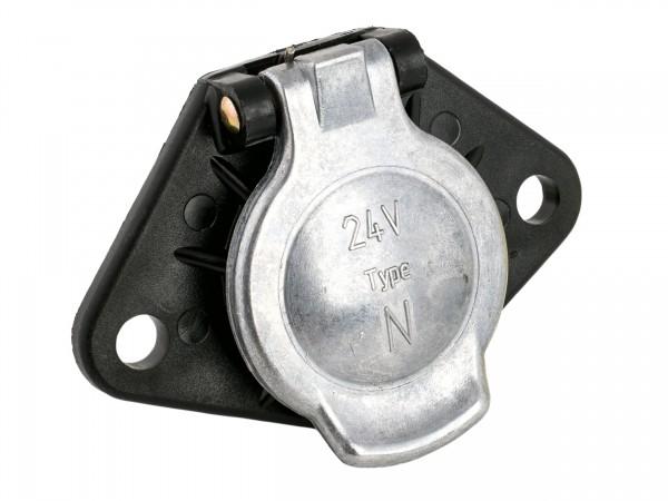 Steckdose 7-polig 24 Volt, ISO 1185, Schraubanschluss