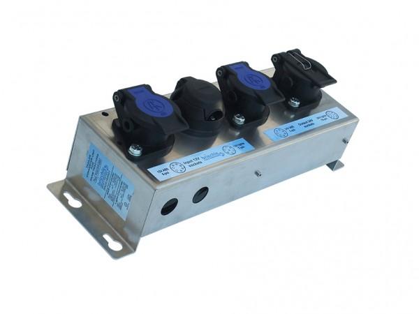 Beleuchtungswandler 12V 7-polig auf 24V 15-polig + ABS-Wandler 12V auf 24V ISO7638 - TCU-FT-DD