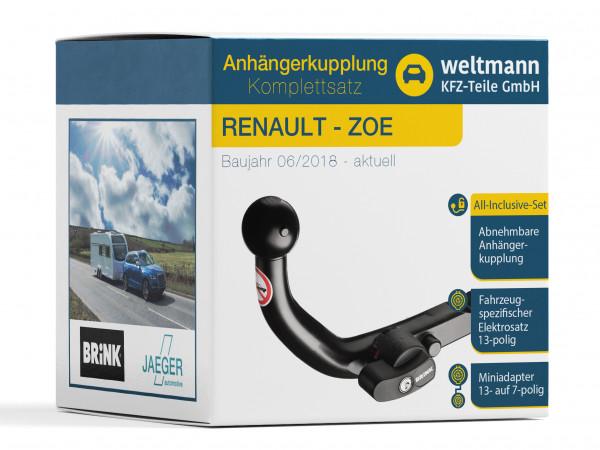 RENAULT ZOE Abnehmbare Anhängerkupplung + 13-poliger Elektrosatz