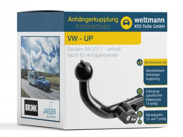 VW UP Abnehmbare Anhängerkupplung + 13-poliger Elektrosatz