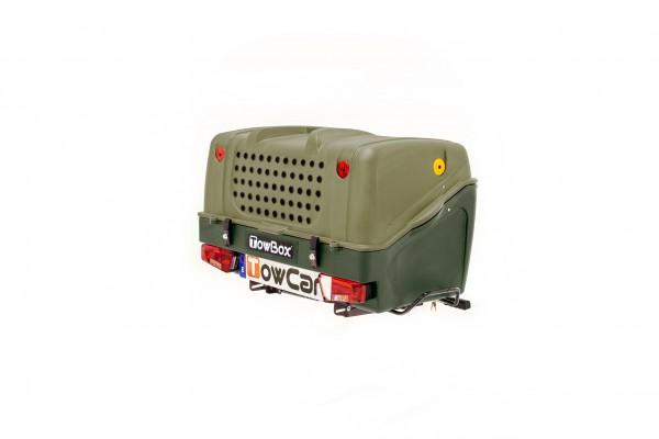 Towbox V1 Gepäckbox für Anhängerkupplung | Grün | Hunde Transportbox | Gepäckträger