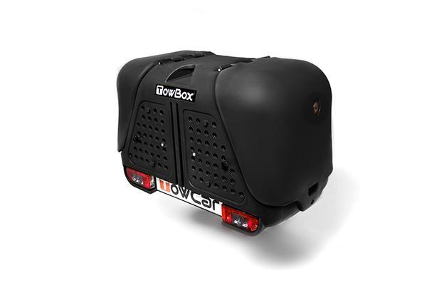 Towbox V2 Gepäckbox für Anhängerkupplung | Schwarz | Hunde Transportbox | Gepäckträger