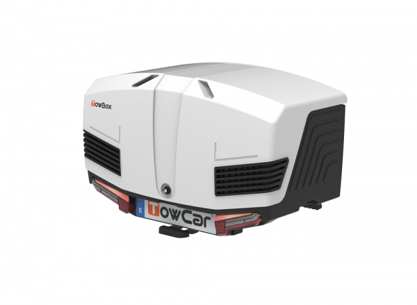 Towbox V3 Gepäckbox für Anhängerkupplung | Arctic Weiß | Transportbox | Gepäckträger