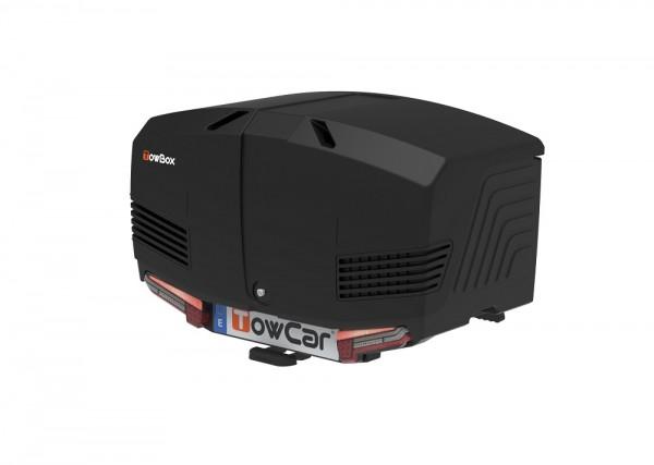 Towbox V3 Gepäckbox für Anhängerkupplung | Urban Schwarz | Transportbox | Gepäckträger