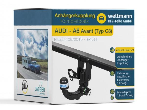 AUDI A6 Avant Typ C8 Abnehmbare Anhängerkupplung + 13-poliger Elektrosatz