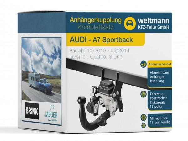 AUDI A7 Sportback Schwenkbare Anhängerkupplung inkl. fahrzeugspezifischer 13-poliger Elektrosatz