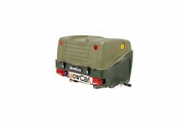 Towbox V1 Gepäckbox für Anhängerkupplung | Grün | Transportbox | Gepäckträger