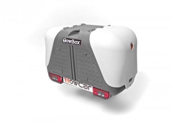 Towbox V2 Gepäckbox für Anhängerkupplung | Grau | Transportbox | Gepäckträger