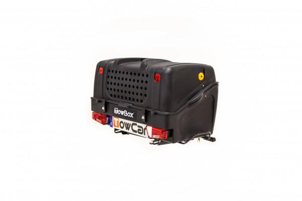 Towbox V1 Gepäckbox für Anhängerkupplung | Schwarz | Hunde Transportbox | Gepäckträger