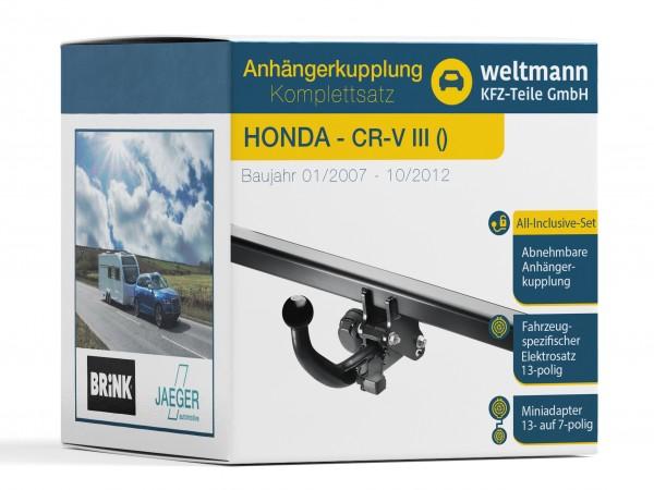 HONDA CR-V III Abnehmbare Anhängerkupplung inkl. fahrzeugspezifischer 13-poliger Elektrosatz