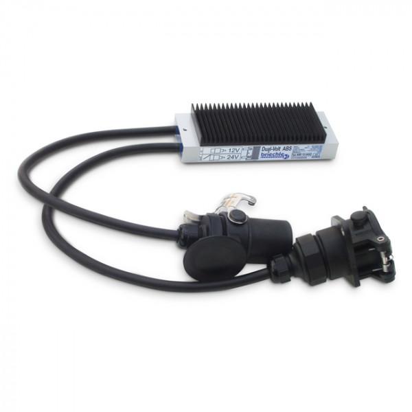 ABS 12-24SC Dual-Volt ABS ABS 12V…24V auf 24V mit Stecker und Dose