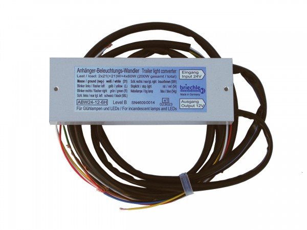 Anhänger-Beleuchtungs-Wandler 24V auf 12V Spannungsreduziergerät