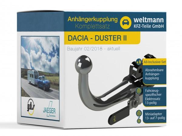 DACIA DUSTER II Abnehmbare Anhängerkupplung inkl. fahrzeugspezifischer 13-poliger Elektrosatz