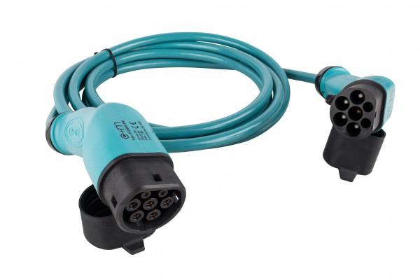 Ladekabel für Elektro- und Hybridfahrzeuge Typ 2 - 400V 16A 11kW - 5m