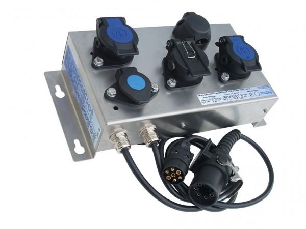 Beleuchtungswandler 12 auf 24V, 7/15 Polig + ABS-Wandler 12 auf 24V ISO7638 - TCU-FT