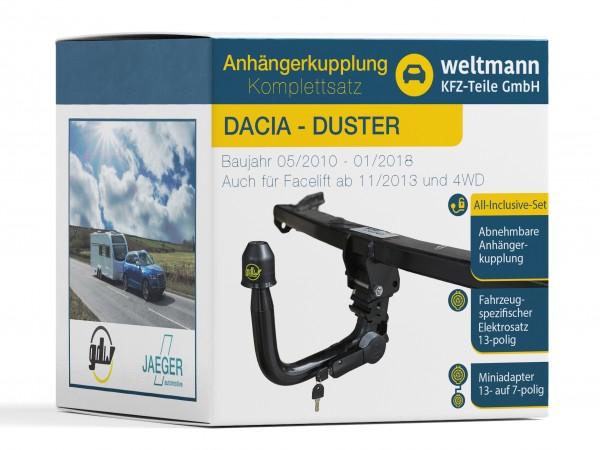 7Z010259 Weltmann Anhaengerkupplung Komplettset Abnehmbar Dacia Duster